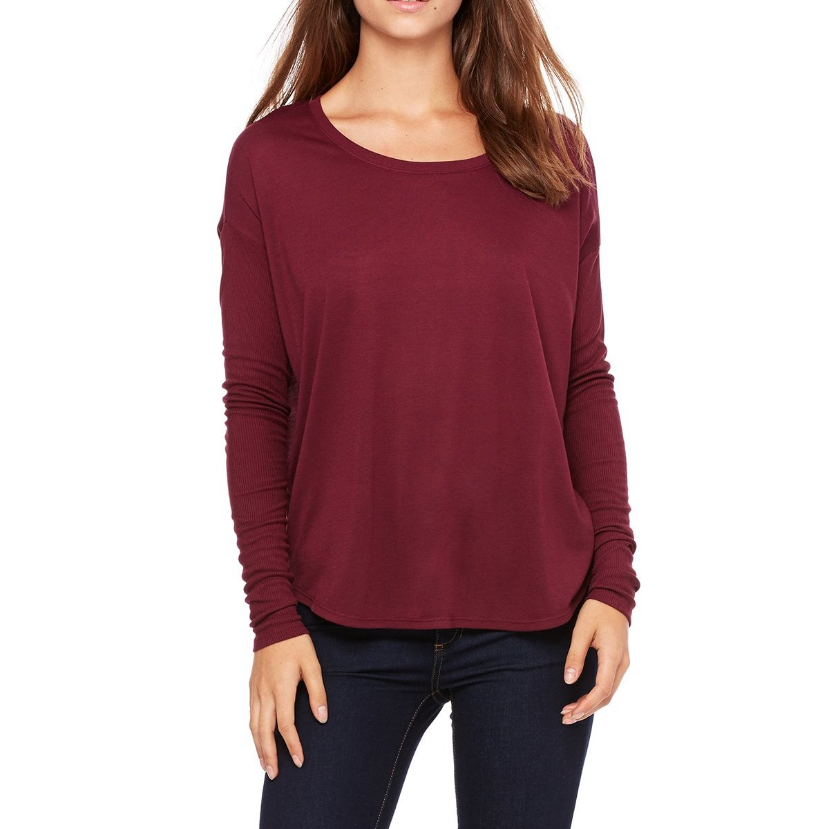 Custom Designed Women's Scoop Neck Long Sleeve Shirt