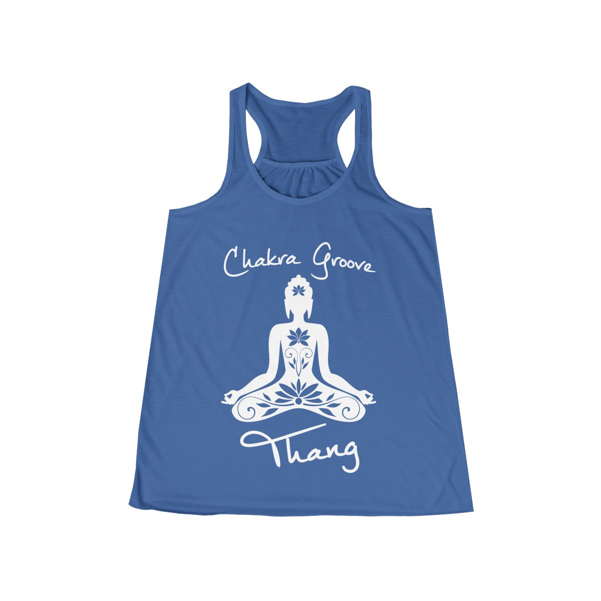 Chakra Groove Thang Flowy Yoga Racerback Tank