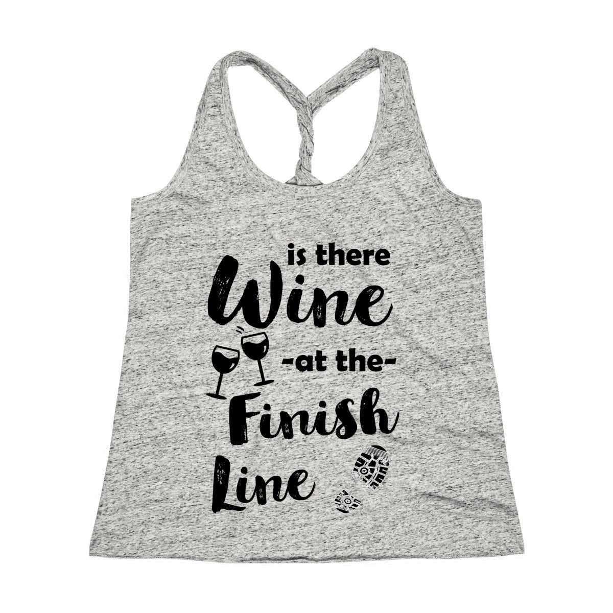Is There Wine at the Finish Line Twist Back Tank Top