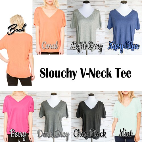 Custom Designed Women's Slouchy V-Neck T-Shirt