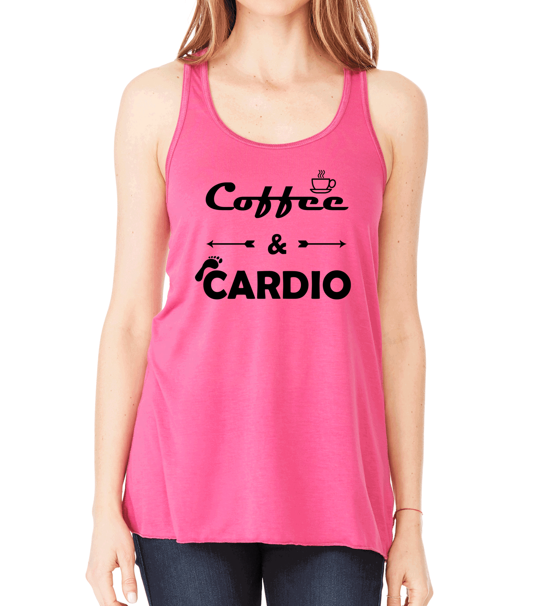 b1a45ee770f5e Coffee   Cardio Womens Flowy Workout Tank Top. Fitness Motivation. Running  Tank Top.