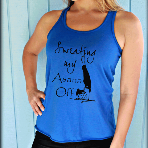 All Day I Namaste Yoga Tank Top. Womens Yoga Clothes. Burnout Yoga Tank.