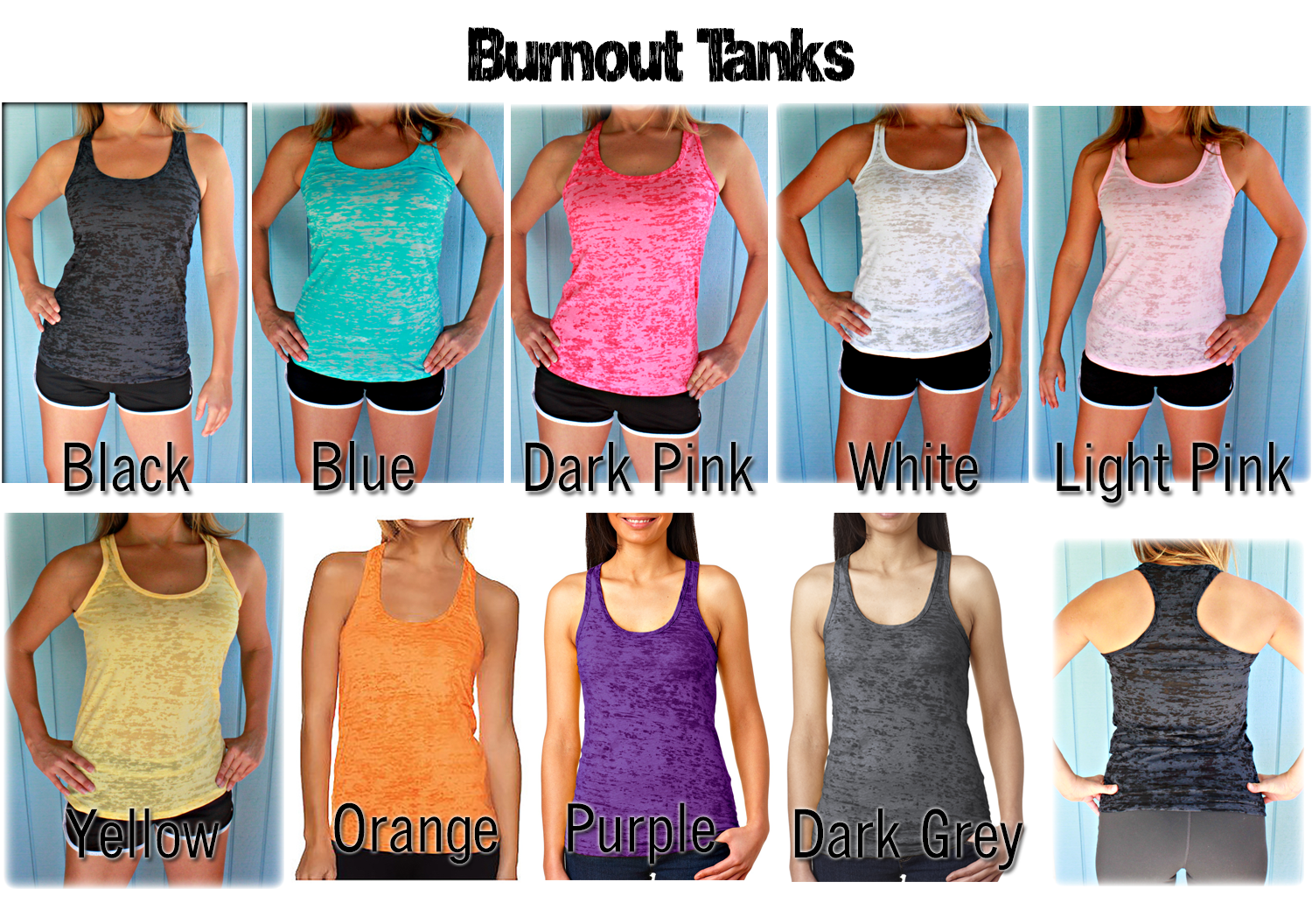 Three Tank Discount. Burnout or Flowy Workout Tank Tops. Women's Athletic Tanks.