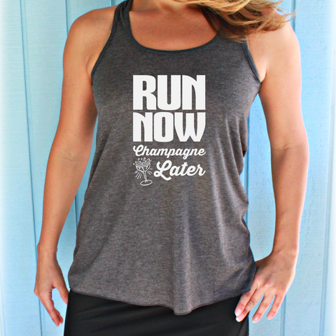 Run Now Tacos Later Womens Flowy Workout Tank Top. Fitness Motivation. Running Tank Top. Gift for Runner.
