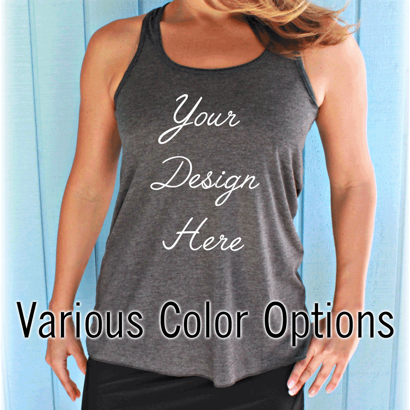 Custom Designed Women's Flowy Workout Tank Top