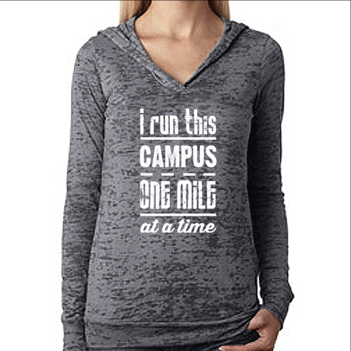 I Run This Campus Womens Running Workout Hoodie
