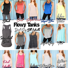 Flowy Bridesmaid Tank Tops. Bridal Party or Bachelorette Party Shirts.