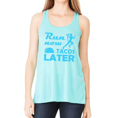 Keep Running the Race Hebrews 12:1 Christian Flowy Racerback Tank