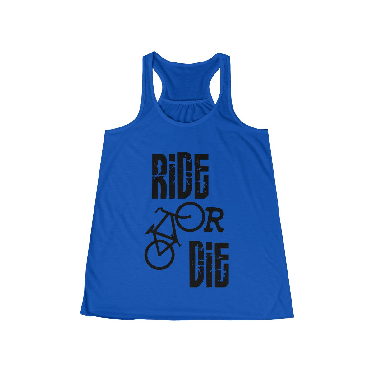 Ride or Die Biking Flowy Racerback Tank