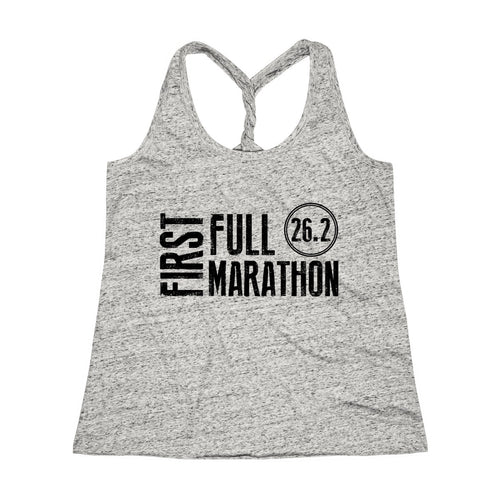 First Full Marathon 26.2 Workout Twist Back Tank Top