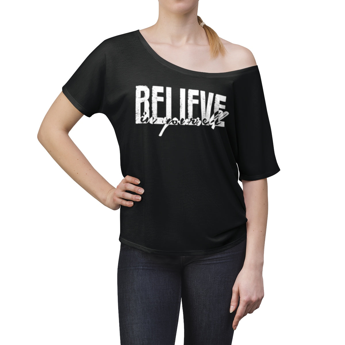 Believe In Yourself Slouchy Top