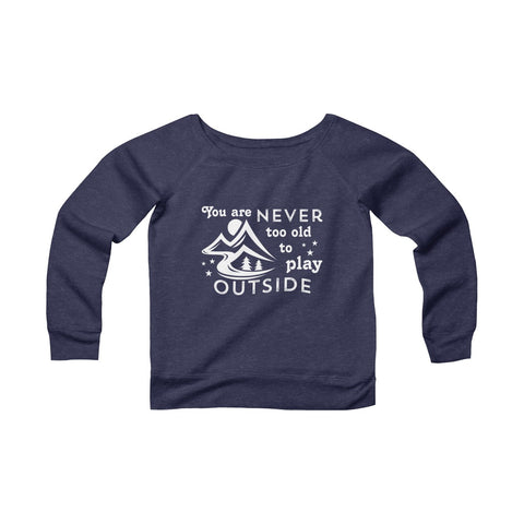 And Though She Be Little She is Fierce Sponge Fleece Wide Neck Sweatshirt
