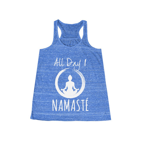 All Day I Namaste Yoga Sponge Fleece Wide Neck Sweatshirt