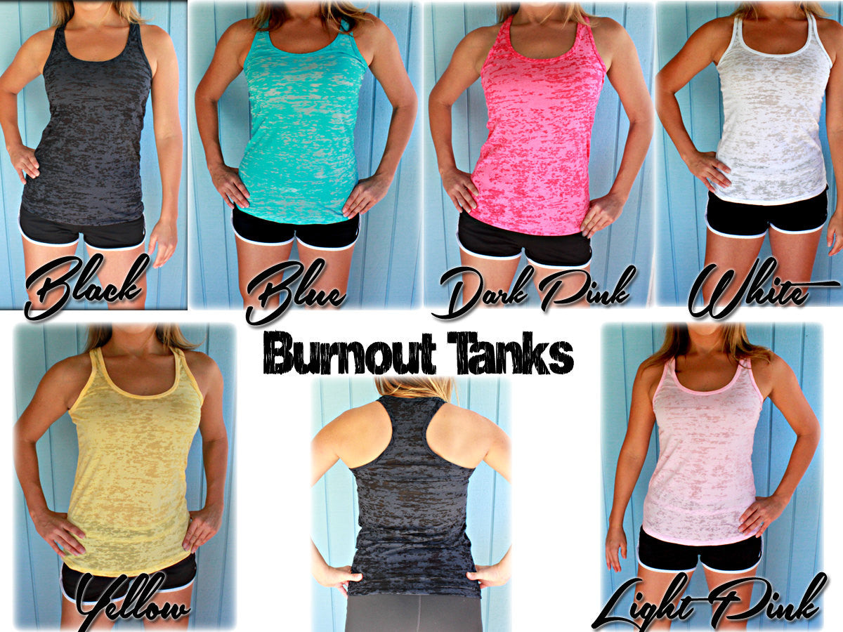"Burnout Workout Tank Top. ""Sore Today Stronger Tomorrow"". Womens Inspirational Clothing. Fitness Motivation."