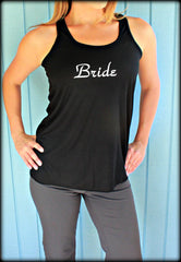 1, 2 or 3 Bridesmaid Tank Tops. Flowy Bridal Party Shirts. Bride. Maid of Honor. Wedding Party Gift. Bachelorette Shirt. Bride Gift.