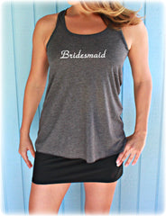 4 or 5 Bridesmaid Shirts. Flowy Bridal Party Tank Tops. Bride. Maid of Honor. Wedding Bachelorette Party Gift. Bride Shirt. Bride Gift.