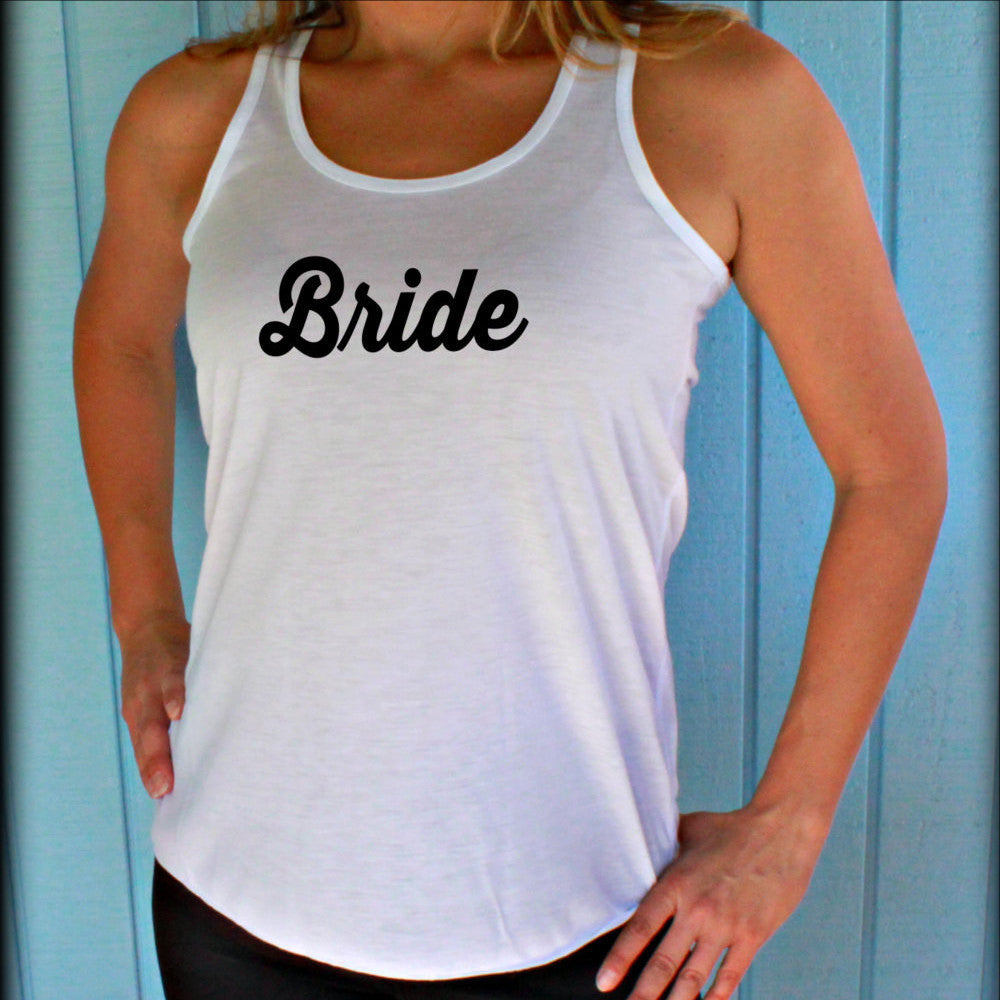 6,7,8 or 9 Bridesmaid Tank Tops. Flowy Bridal Party Shirts. Bride Shirt. Maid of Honor. Bachelorette Party Gift.