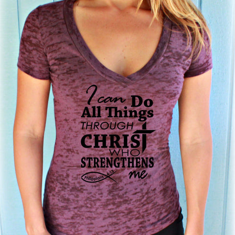 Power Love and Sound Mind. 2 Timothy 1:7 Bible Verse Slouchy V-Neck T-Shirt