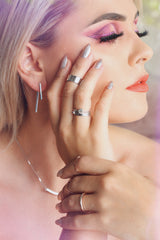 Victoria Faith Wearing Republic Road Rings