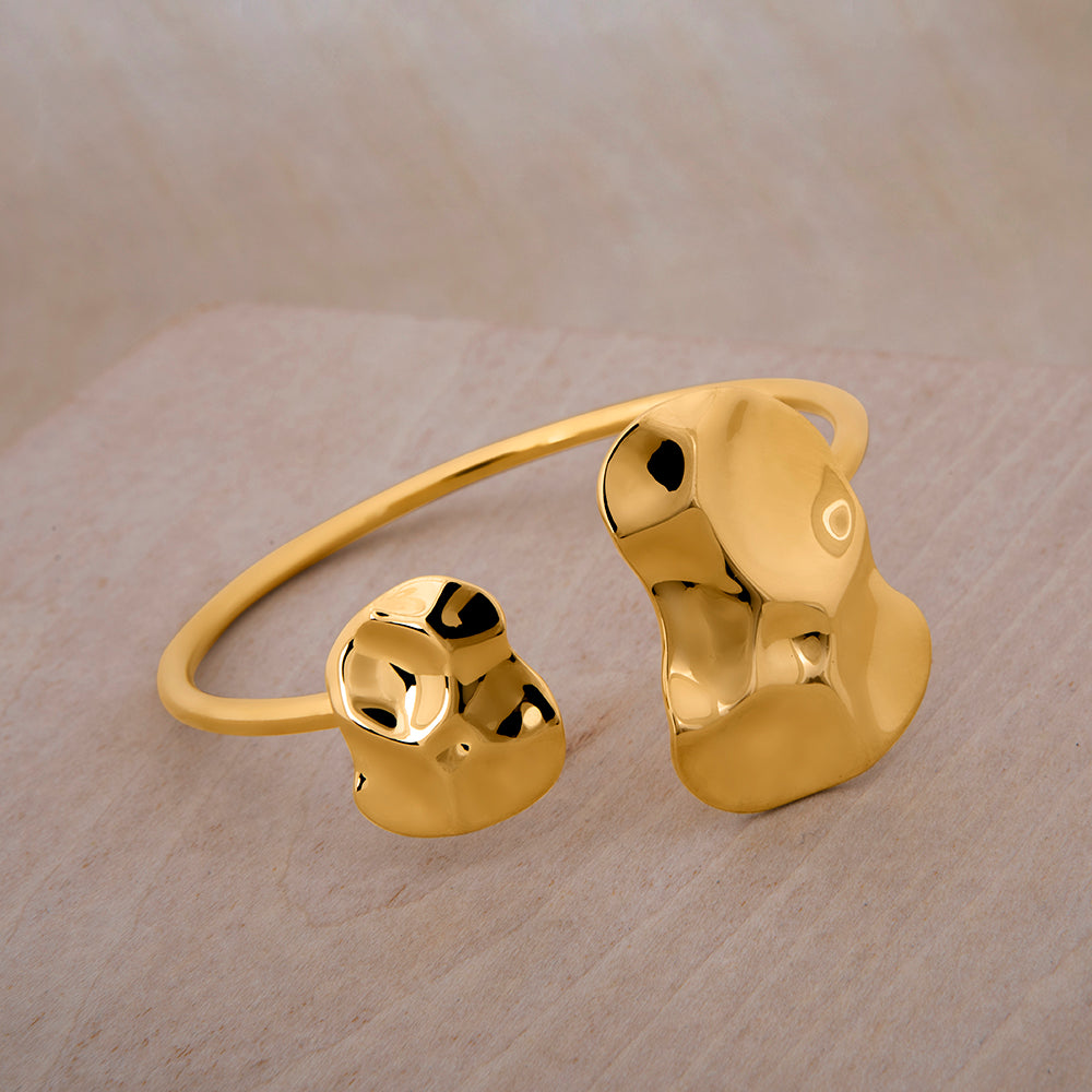 Republic Road Mirer Exquisite Cuff Gold on wood