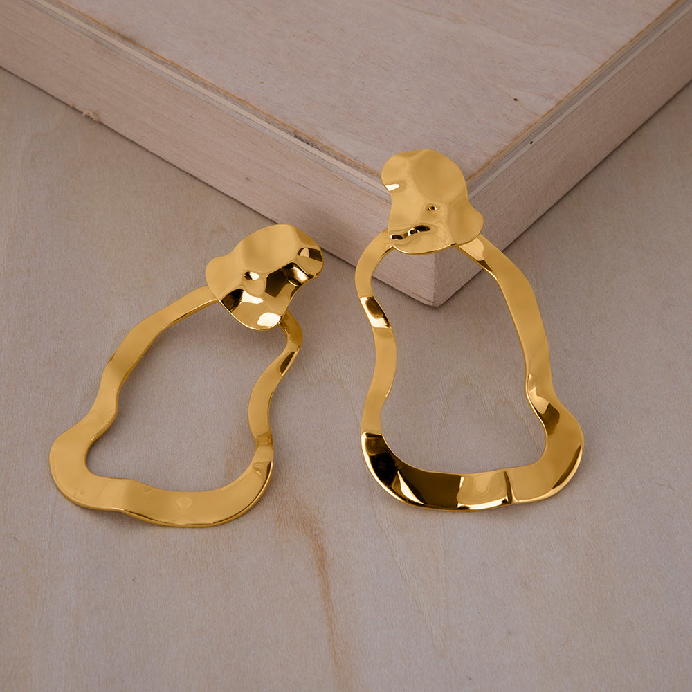 Republic Road Mirer Reverie Earring in Gold  on Wood