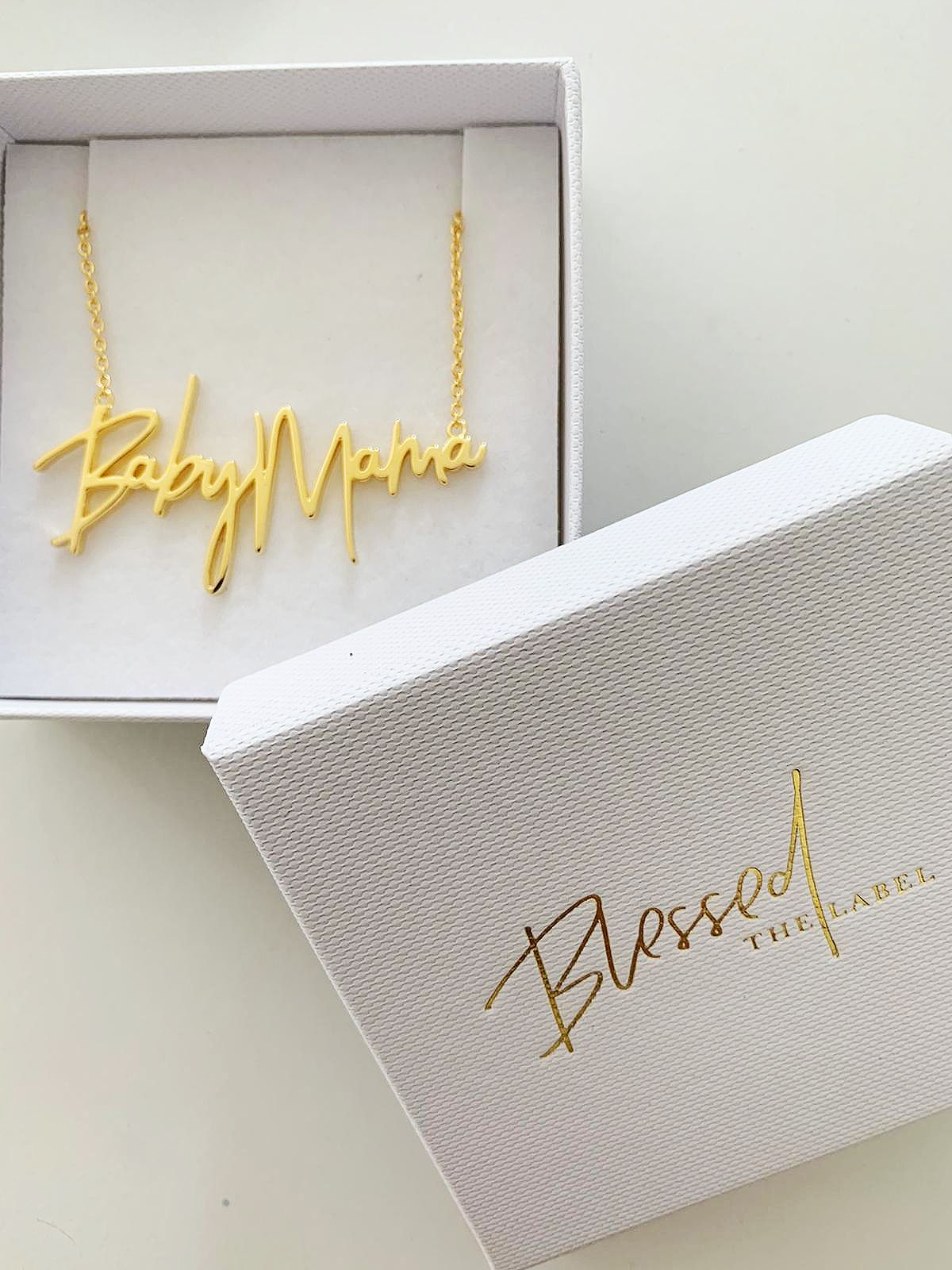 Baby Mama Necklace Gold