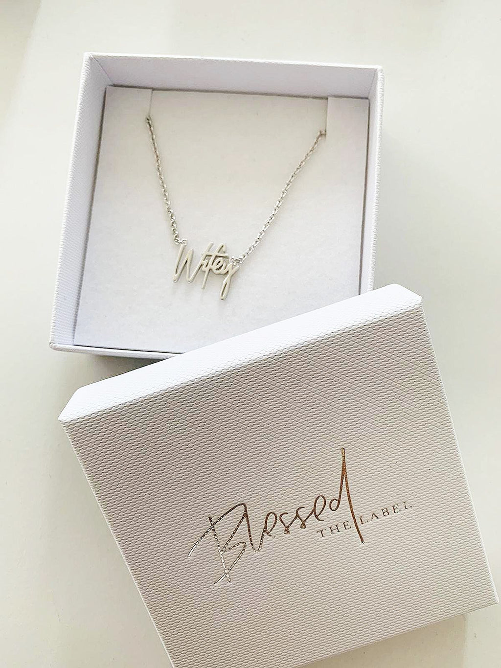 Wifey Necklace Mini Silver