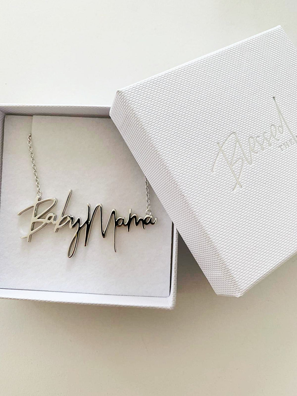 Baby Mama Necklace Silver