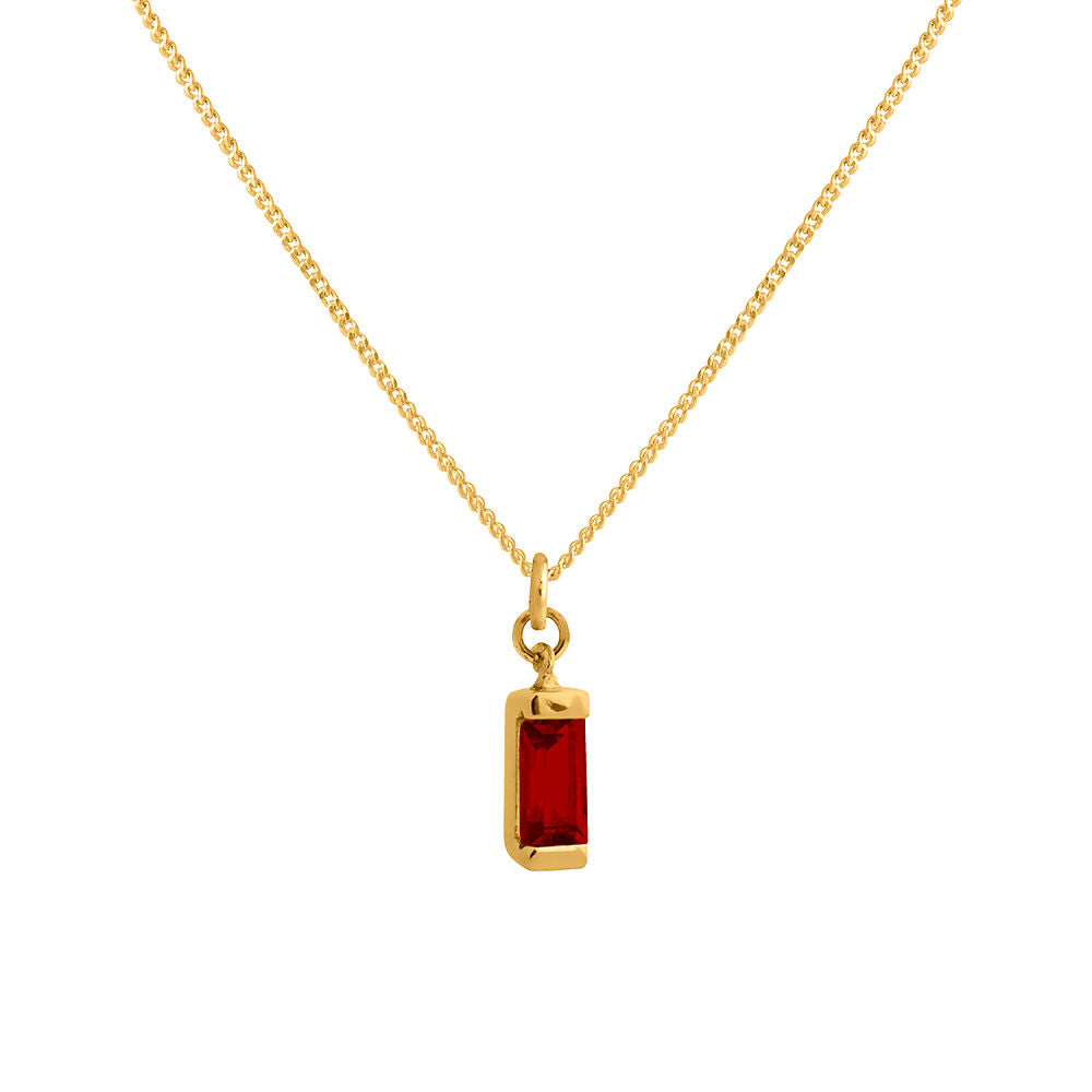 Garnet Necklace Gold