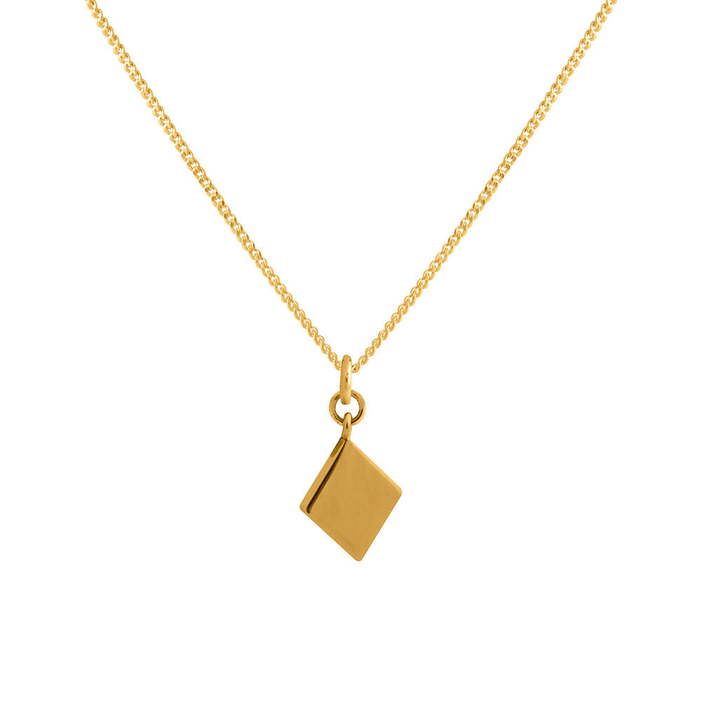 Sleeper Pendant -Diamond Shape  Gold Plated