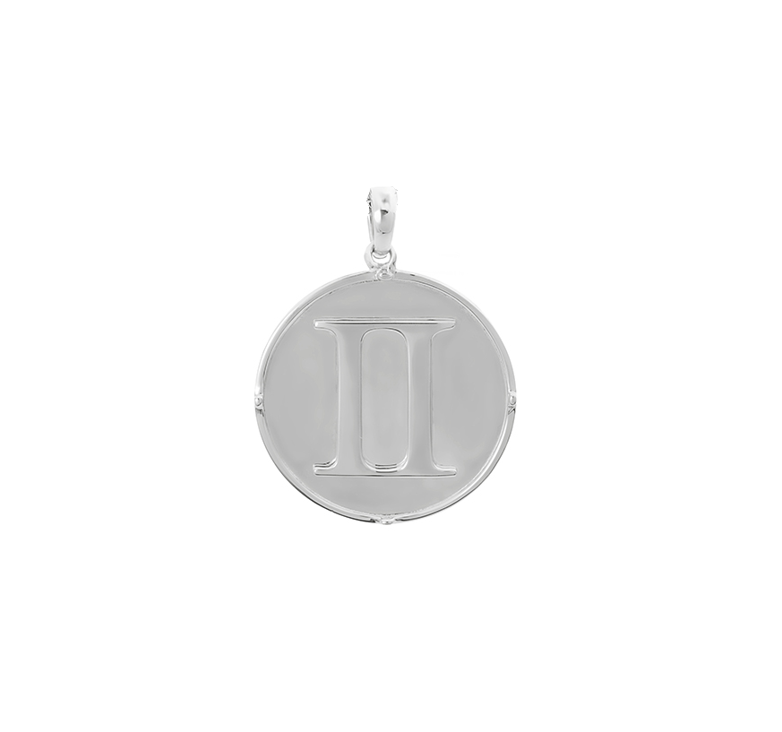 Double Portions Pendant Silver