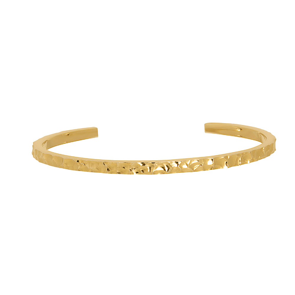 Lindi Kingi Deluxe Solaris Remix Hammered Cuff Gold
