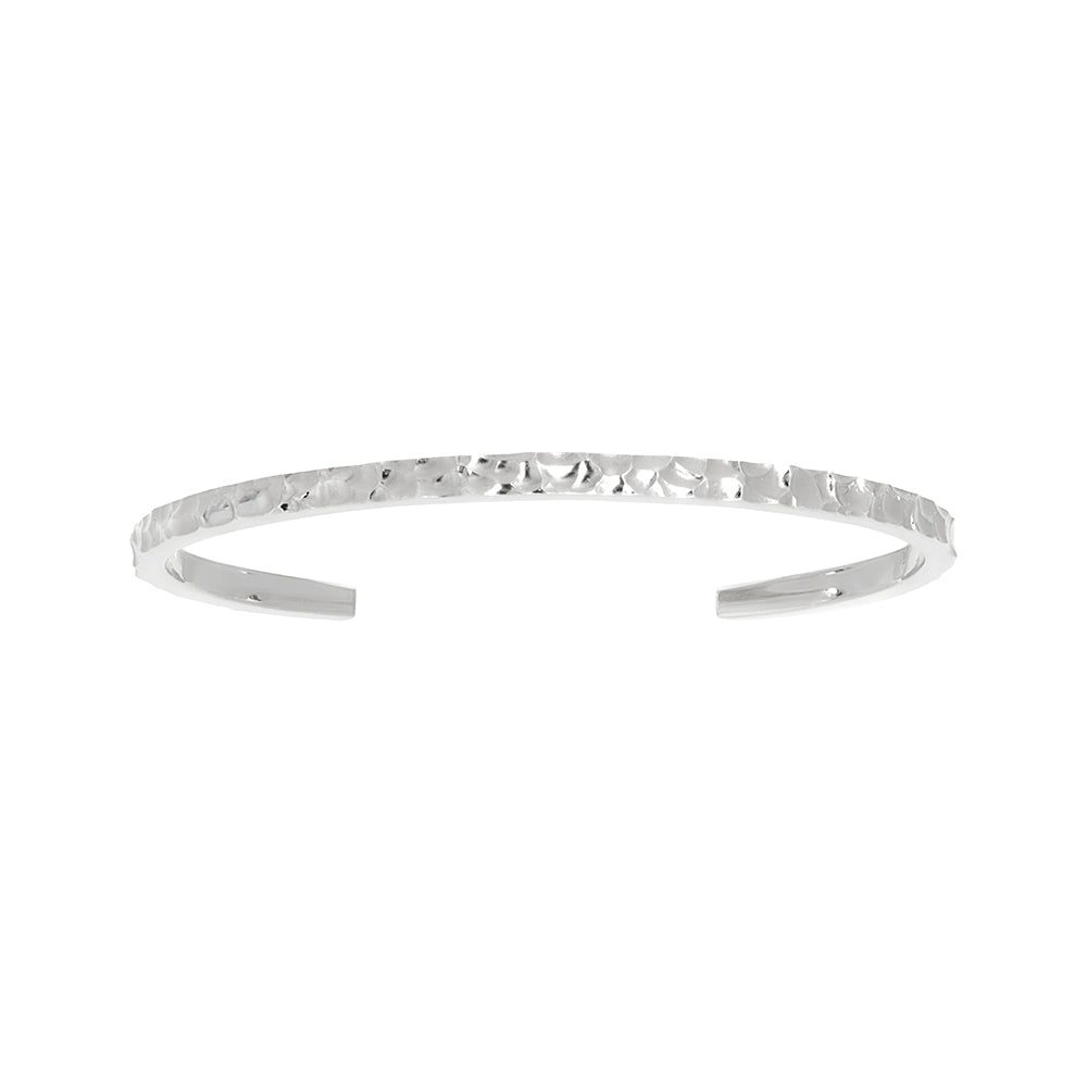 Solaris REMIX Hammered Cuff - Silver