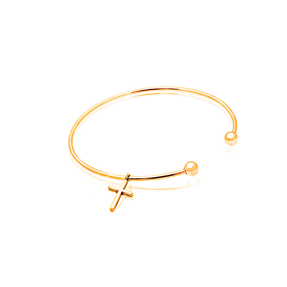 Gold Blessed Bangle with Exhalted Charm