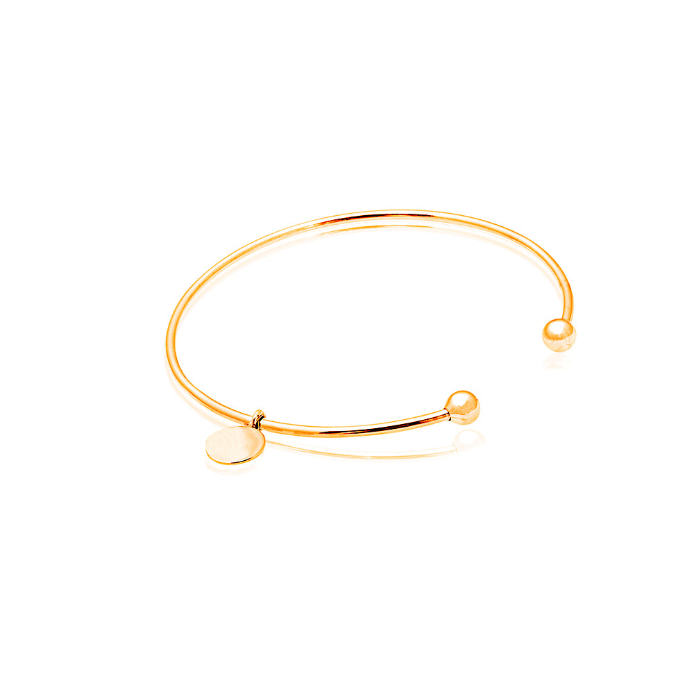 Gold Blessed Bangle with Divine Charm