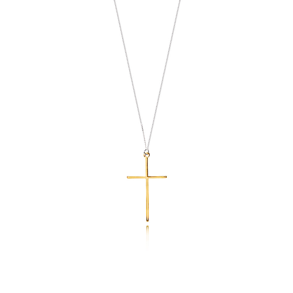 Lindi Kingi Deluxe | Nirvana Cross Pendant Gold