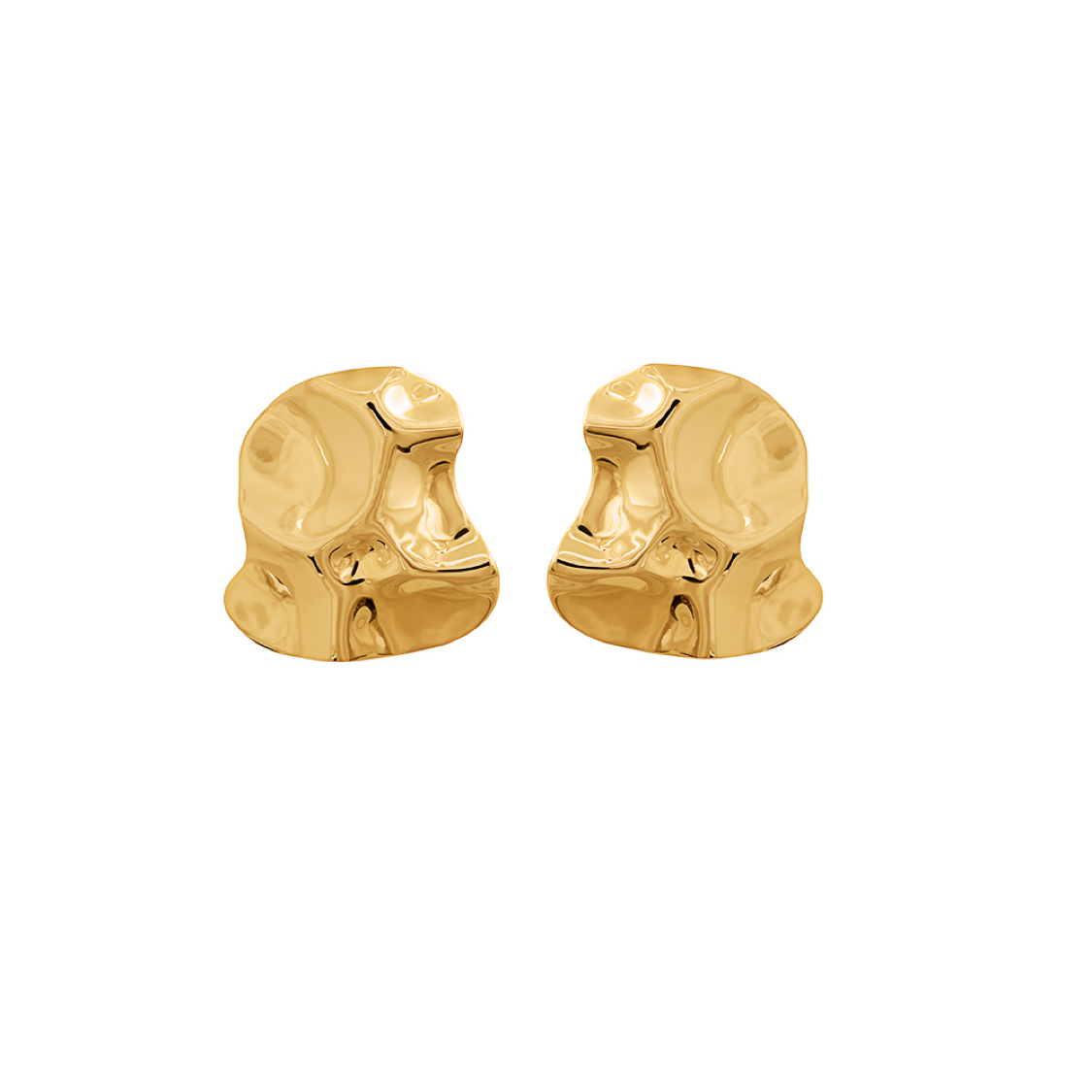 Republic Road Mirer Marvel Studs in Gold | Available Now