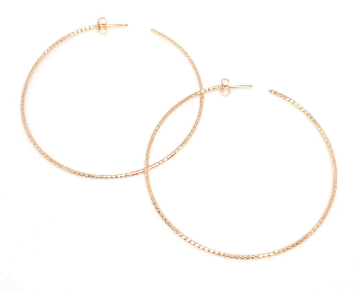 Large Halo Hoops - Rose Gold