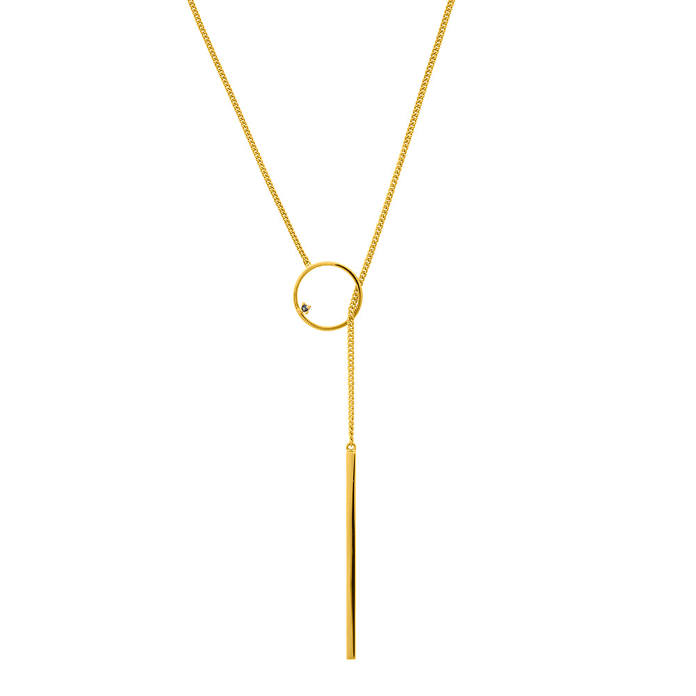 Republic Road ' Illuminate ' The Guide Lariat Necklace Gold Available Now