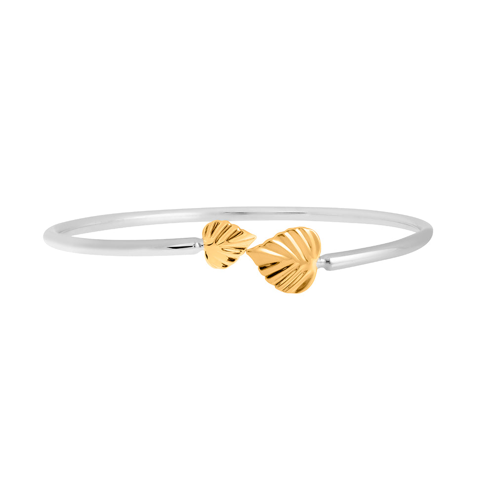 Wild | Heartspace Cuff Bracelet |Sterling Silver with 9CT Gold  |The Mint Republic