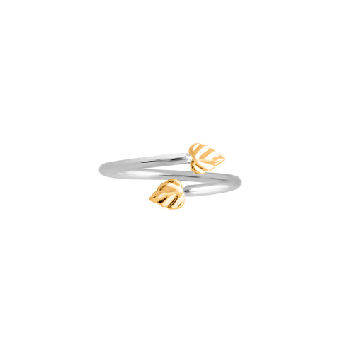 Wild | Heartspace Ring |Sterling Silver w 9CT Gold |The Mint Republic