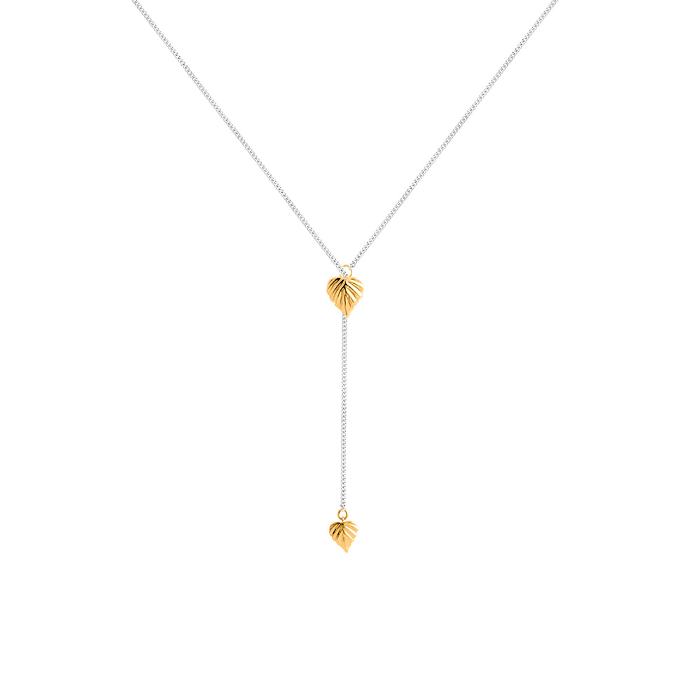 Wild | Heartspace Lariat Pendant  |STG + 9CT Gold |The Mint Republic