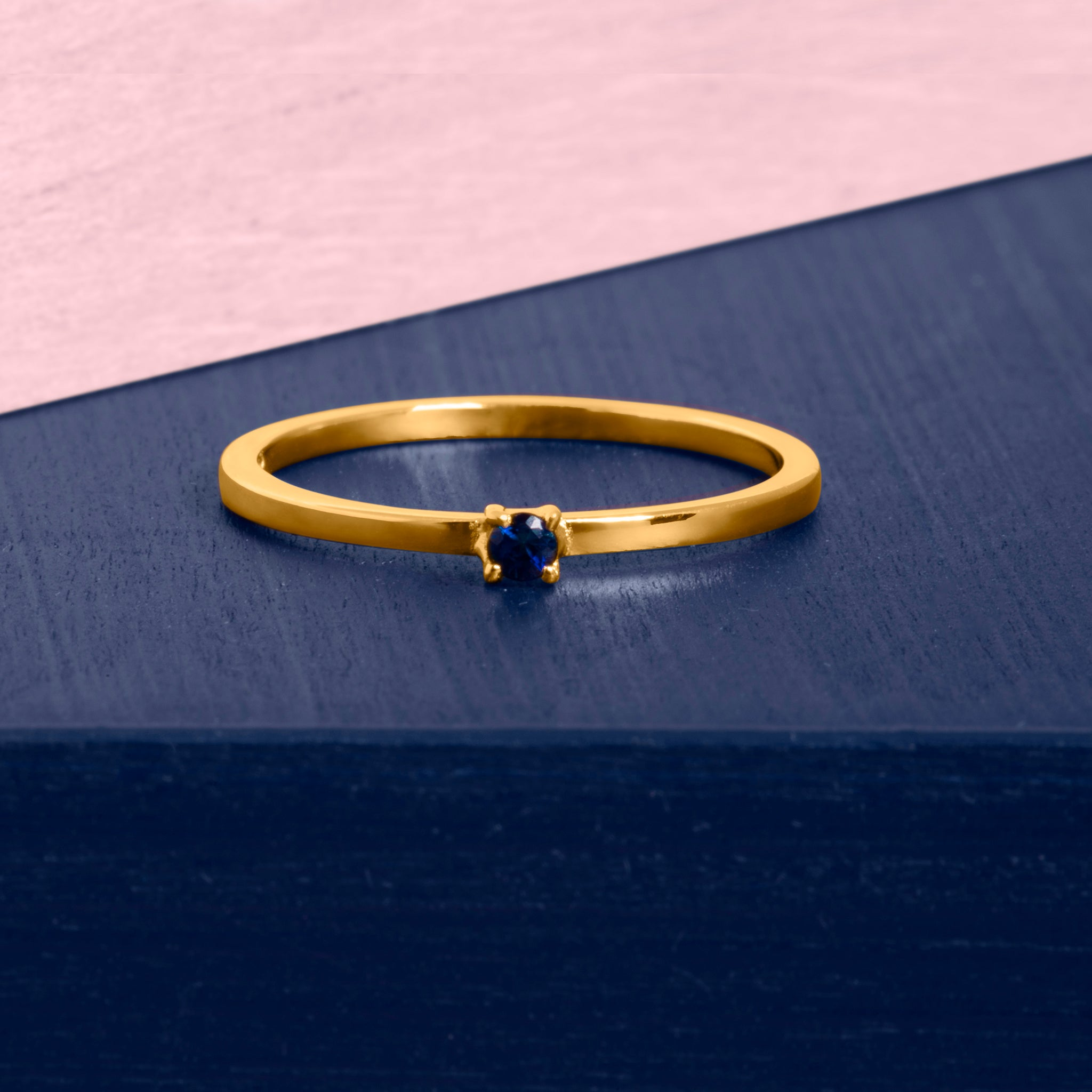 Republic Road | Illuminate | Show the Way Ring Gold on Blue and Pink