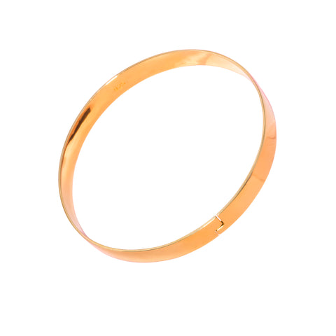 The Winding Road Bangle | Gold on White Background Republic Road