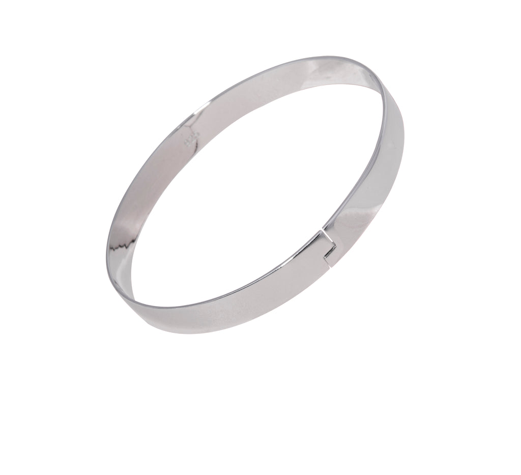 The Winding Road Bangle Silver on White Background Republic Road