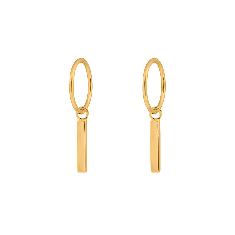 Republic Road Mini Musing Earrings Fine Line Gold