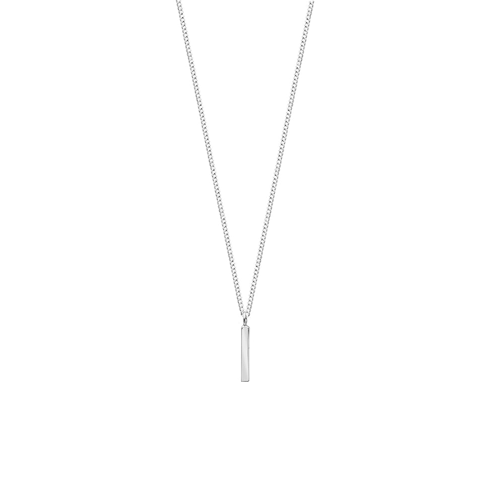 Fine Line Necklace Silver