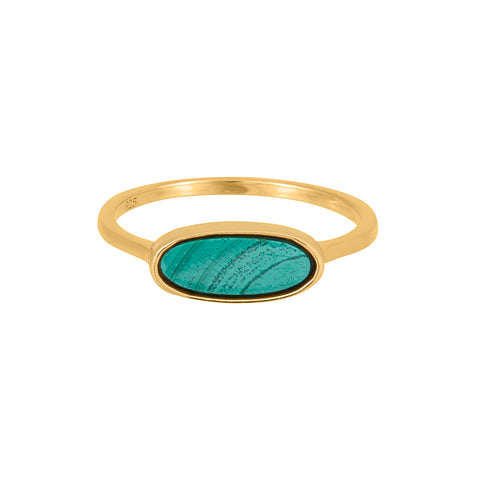 Revival Ring with Malachite Gold