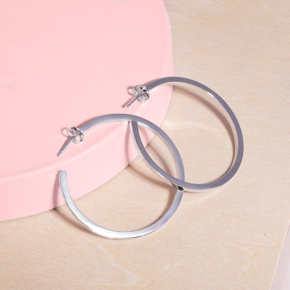 Republic Road Silver Hoops