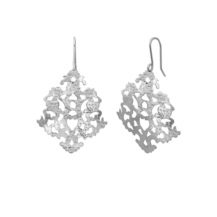 Solaris Silver Sunflake Earrings